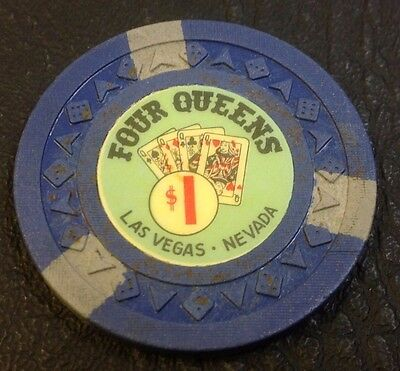 Four Queens $1 Casino Chip Las Vegas Nevada Arodie Mold 1966 Free Shipping