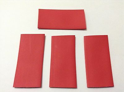 20mm RED HEAT SHRINK 2:1 TUBES 4 PIECES APPROX 7.5MM