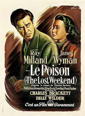 The Lost Week End - Original French Poster - Very Rare