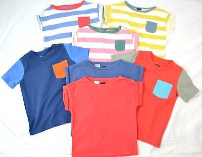 Mini Boden cotton t-shirts plain and striped age 2 - 10 new