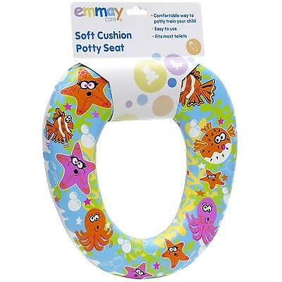 Emmay Soft Cushion Kids Children Baby Boy Girl Potty Training Toilet Seat #08071