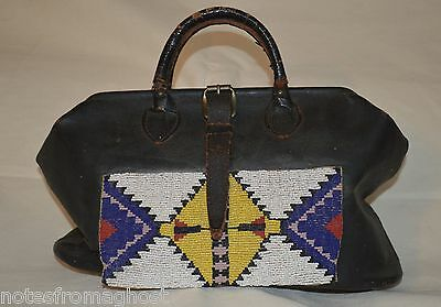 Antique Native American Beaded Doctor Bag ~ Plains Indian ~  Leather