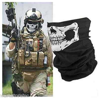 Full Function Skull Face Scarf Snood Neck Mask Bandana | Ski Motorcycle BMX Bike