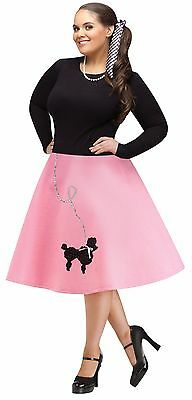 Womens Poodle Skirt 50s Costume Grease Greaser Adult Fancy Dress XL Plus Size