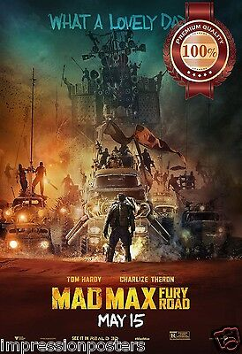 New V4 Mad Max Fury Road A Lovely Day 2015 Movie Wall Art Print Premium Poster