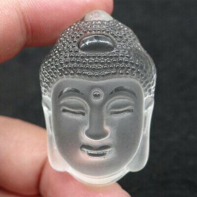 Hand Carving Buddha Head bead pendant , natural White Crystal Pendants Necklaces