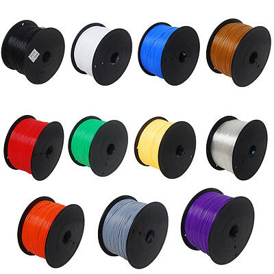 New 3D-Printer Print Filament PLA 1.75mm 1KG/2.2lb Various 11 Color for Makerbot