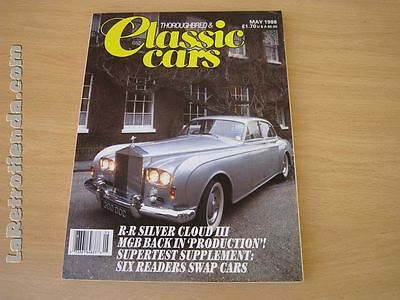REVISTA THOROUGHBRED & CLASSICS CARS May 1988