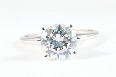 3.00 CT ROUND Brilliant CUT 14k Solid White Gold  SOLITAIRE ENGAGEMENT RING