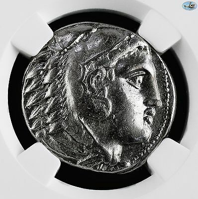 KINGDOM OF MACEDON-Alexander III AR TETRADRACHM 336-323 BC HERACLES ZEUS-NGC XF