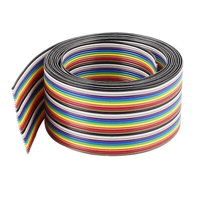 2m 6.5ft 30Pin Rainbow Color Flat Ribbon Cable IDC Wire 1.27mm for Arduino