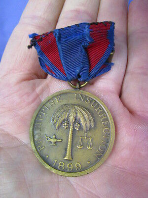 Phillippine Insurrection 1899 Medal ~ Serial Number 28599