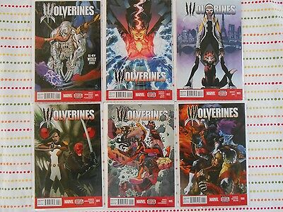 Lot of 6 Wolverines 1 2 3 4 5 6  Bag / Boards NM!