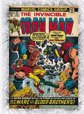 IRON MAN #55 COVER B-25 2011 Upper Deck Marvel Beginnings I CARD