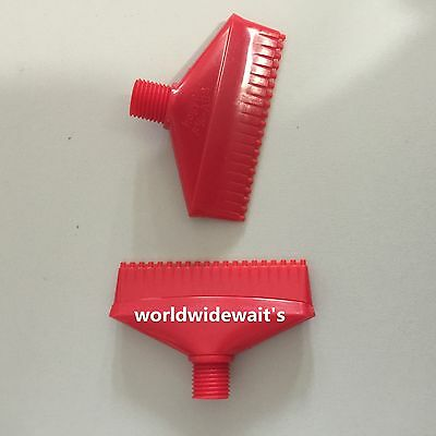2 Pcs 1/4'' 20 Holes Red ABS Air Blower Air Nozzle Air Knife Wind Nozzle