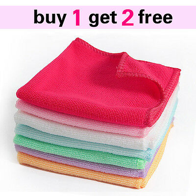 1 New Microfiber Cleaning Hand Car Wash Towels Rags Kitchen Small Cloth 9×9""