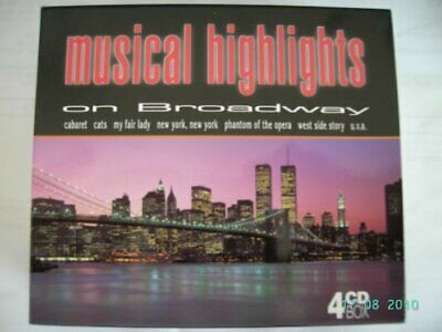 Musical Highlights on Broadway ( 4er Box CD Incredible Value and Free Shipping!