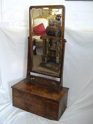 A Good Sized Antique Oriental Dressing Table Swing Mirror