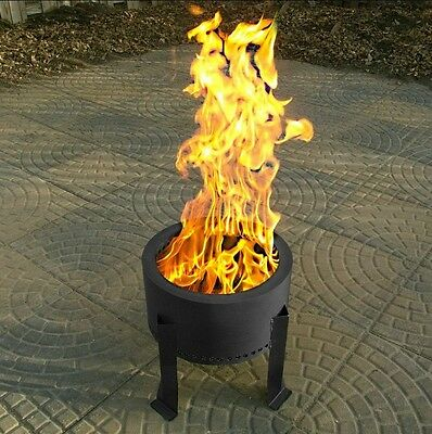 HY-C FLAME GENIE Fire Pit Burns Wood Pellets #FG14 FREE USA SHIPPING!