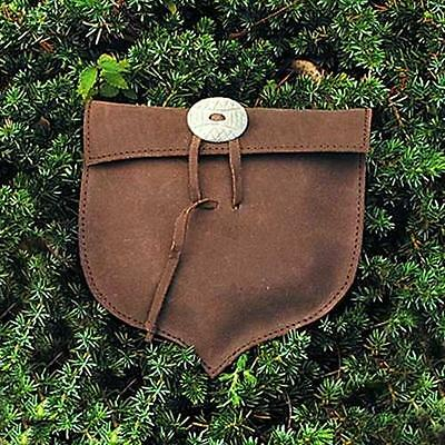 MEDIEVAL FANTASY Renaissance All Eras Unisex Brown Leather ACORN POUCH BAG LARP