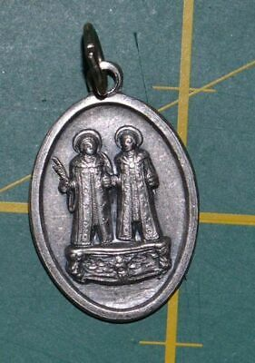COSMA / DAMIANO Medal Pendant, SILVER TONE, 22mm X 15mm, MADE IN ITALY