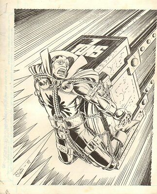 Mister Miracle Specialty Piece - 1984 Signed art by Paris Cullins