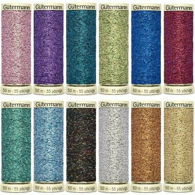 Gutermann Sparkling Glitter Metallic Effect Thread  FREE NEEDLE OFFER