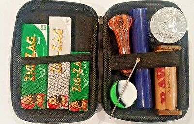 """""""Traveler"""" Smoking Kit- Aluminum Grinder, Rolling Machine & Papers, & much more!"""