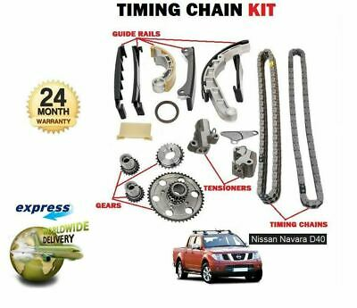 FOR NISSAN NAVARA D40 2.5 TD YD25DDTi 2006-2010 NEW TIMING CAM CHAIN KIT SET
