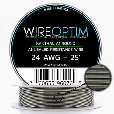 Kanthal 24 AWG Wire 25' Roll 0.51mm , 2.04 Ohms/ft Resistance