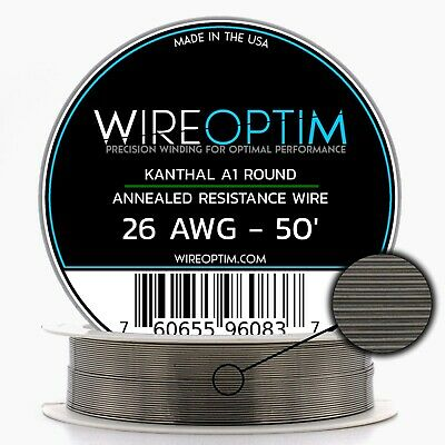 Kanthal 26 AWG Wire 50' Roll 0.40mm , 3.21 Ohms/ft Resistance
