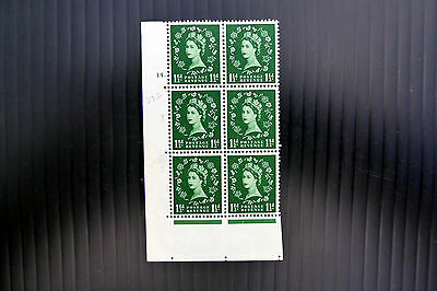 GB 1955 Wilding ½d Cyl 14 with Butterfly Flaw S26g NEW SALE PRICE FP3191