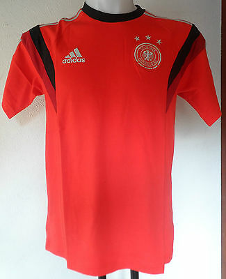 Germany 2014 Red Training Tee By Adidas Adults Size Adult Small Brand New