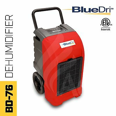 BlueDri® BD-76P ETL Certified Commercial Industrial Grade Dehumidifier Red
