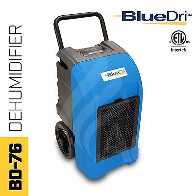 BlueDri® BD-76P ETL Certified Commercial Industrial Grade Dehumidifier Blue
