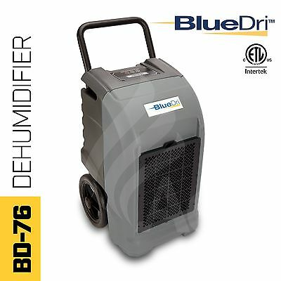 BlueDri® BD-76P ETL Certified Commercial Industrial Grade Dehumidifier Grey