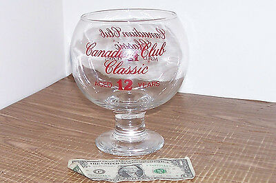 Giant Glass Canadian Club Classic Whisky Snifter Whiskey Big Hiram Walker Huge