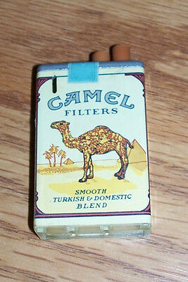 Camel Cigarette Pack Gas Lighter Cigar Joe Vintage Cigarettes Butane Advertising