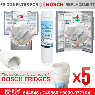 5 x 9000-077104WF AQUA BLUE H2O REPLACEMENT FOR BOSCH ULTRACLARITY 644845 740570