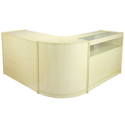 Retail Counter Maple Shop Display Storage Cabinets Shelves Glass Showcase Galaxy