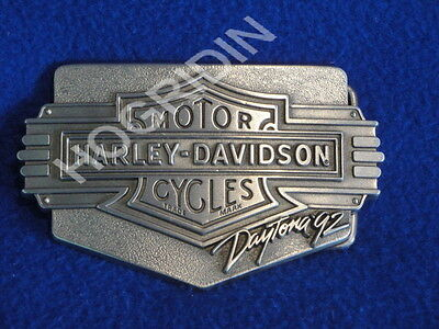 1992 Harley Davidson Daytona bike week belt buckle collector #606 bar & shield