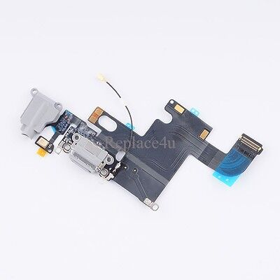 OEM Charging Charger Port Dock Headphone Jack Mic black Flex Cable for Iphone 6