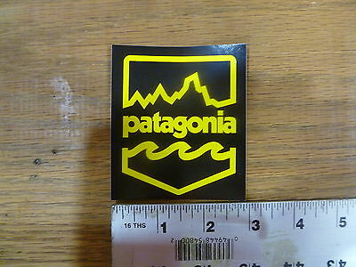 Patagonia Black/Yellow Badge Stickers Decals