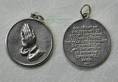 SERENITY PRAYER Medallion Pendant, Round 25mm
