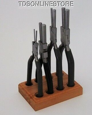 5 Piece Bail Making Plier Set With  1.5mm To 9mm Jaws