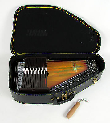 "Vintage 1970's "" CHROMAHARP "" Music 16 String Harp with Original Case & Tool"
