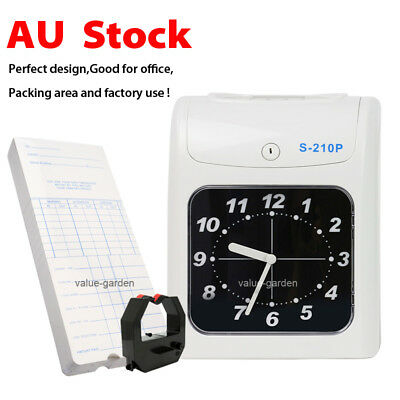 New Electronic Employee Time Attendance Bundy Clock Recorder + Timecards