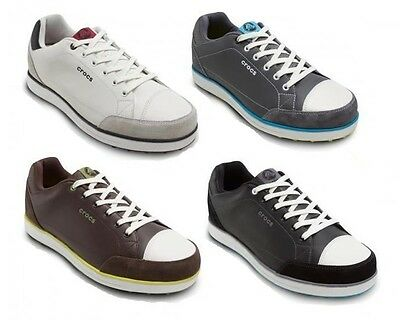 Crocs Karlson Spikeless Waterproof Leather Sport Lite Golf Shoes Mens All Sizes