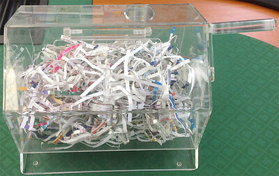 Clear Acrylic Raffle Drum - Holds 2000 tickets  Drawings Prizes