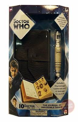 Doctor Who - The Journal of Impossible Things & Sonic Screwdriver Pen NEW